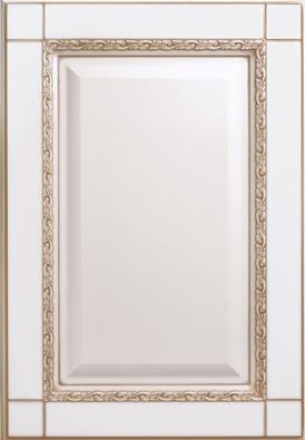 Корсика-к10, эмаль белая, бежевое устарение