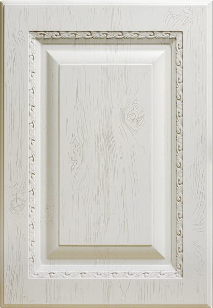 Византия-к10, белое дерево, декапе коричневое
