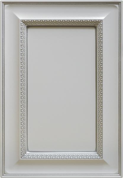 Олимпия-к9, эмаль белая, серебряное устарение