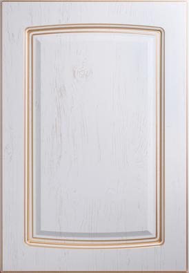 Классика, фр.8, белое дерево, золотое устарение