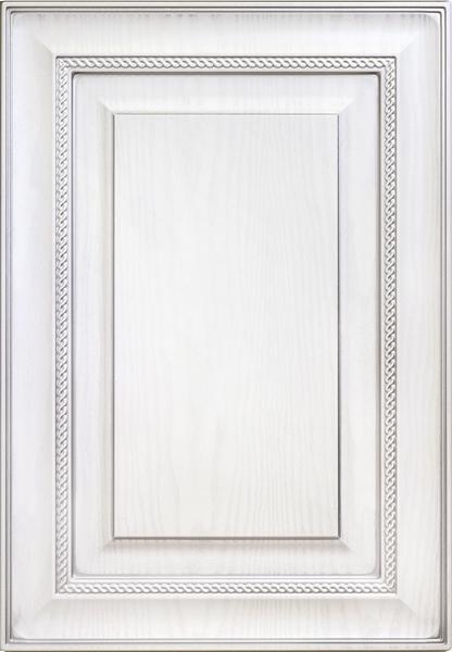 Элегия-к6, текстурный белый, серебряное устарение