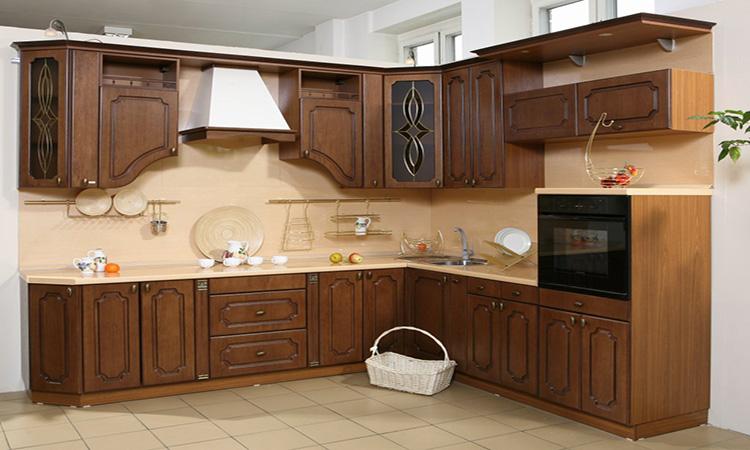 шпонированный фасад для кухни